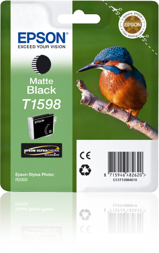 Epst15984010   Epson R2000 Matte Black Ink    Ultrachrome Hi-gloss 2 Photographic                          - UF01