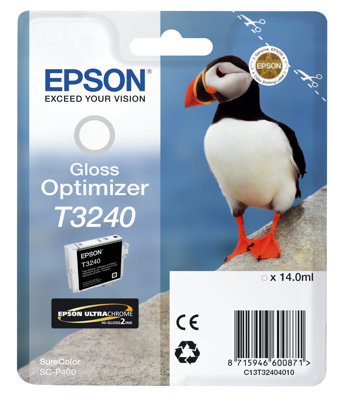 Epst32404010   Epson T3240 Puffin Ink         Gloss Optimizer                                              - UF01