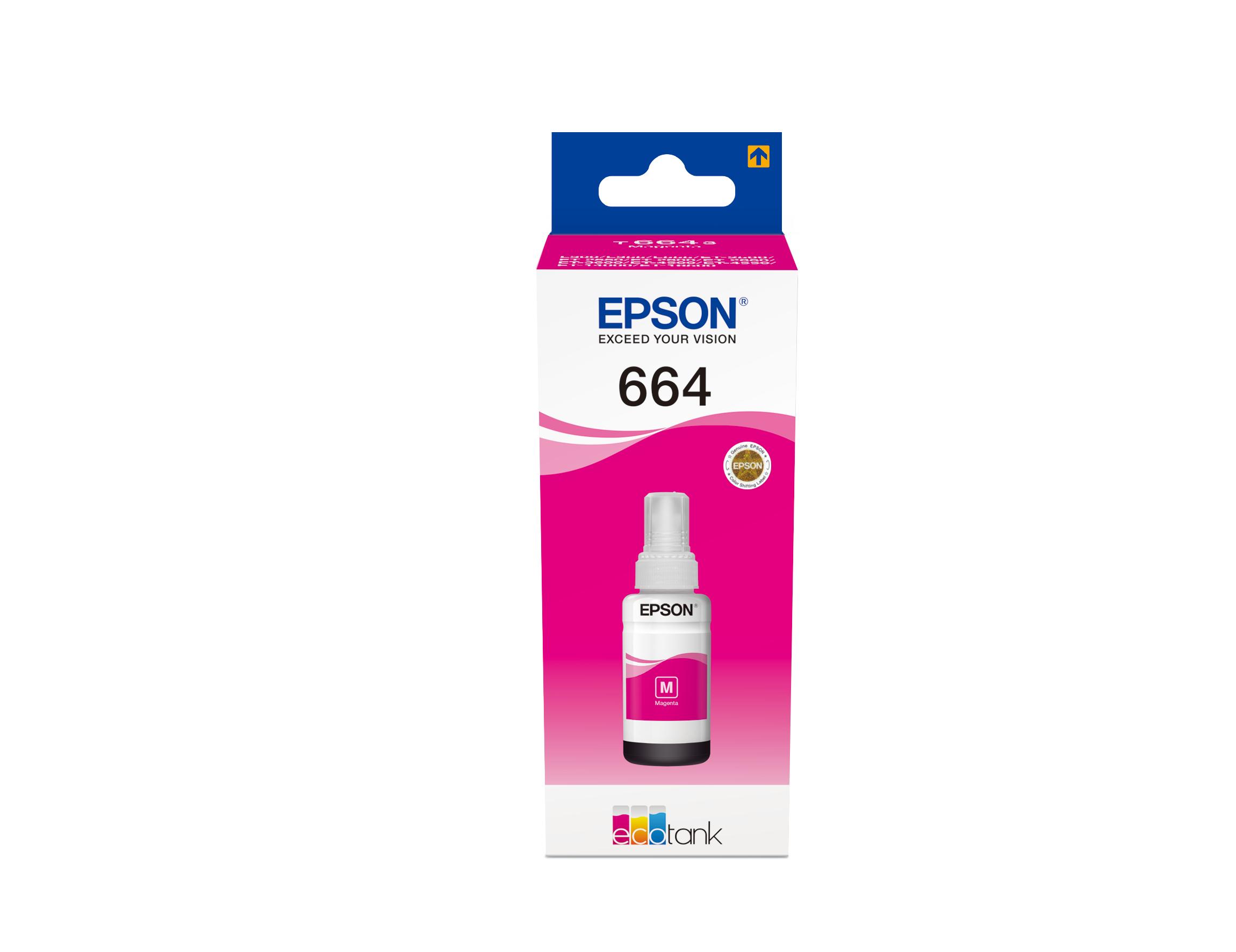 Epst664340     Epson Ecotank Ink Bottle       Magenta 70ml                                                 - UF01