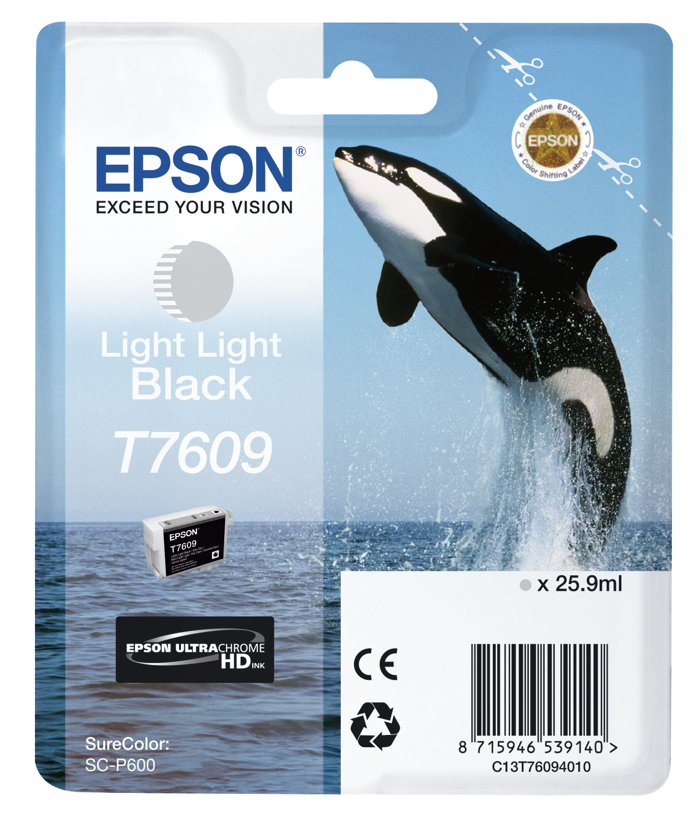 Epst76094010   Epson T7609 Light Light Black  Epson T7609 Light Light Black Ink                            - UF01