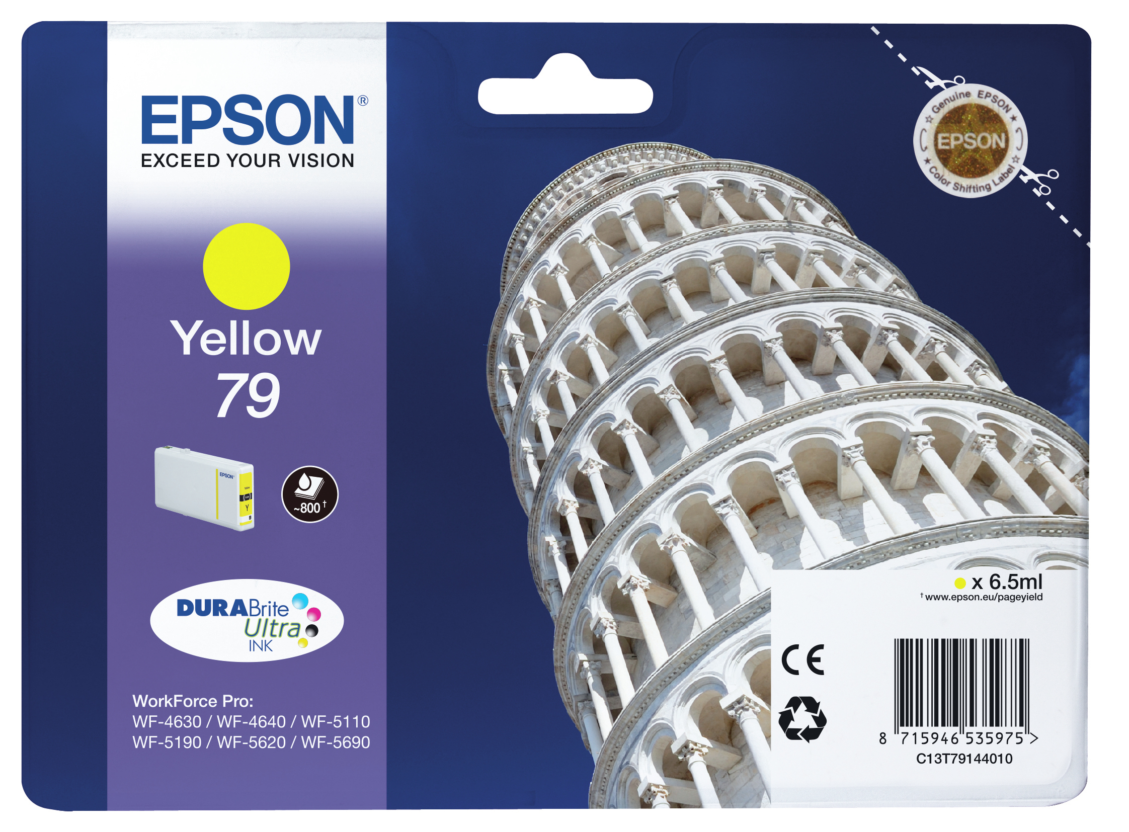 Epst79144010   Epson 79 Yellow Ink            Pisa Yellow Ink                                              - UF01
