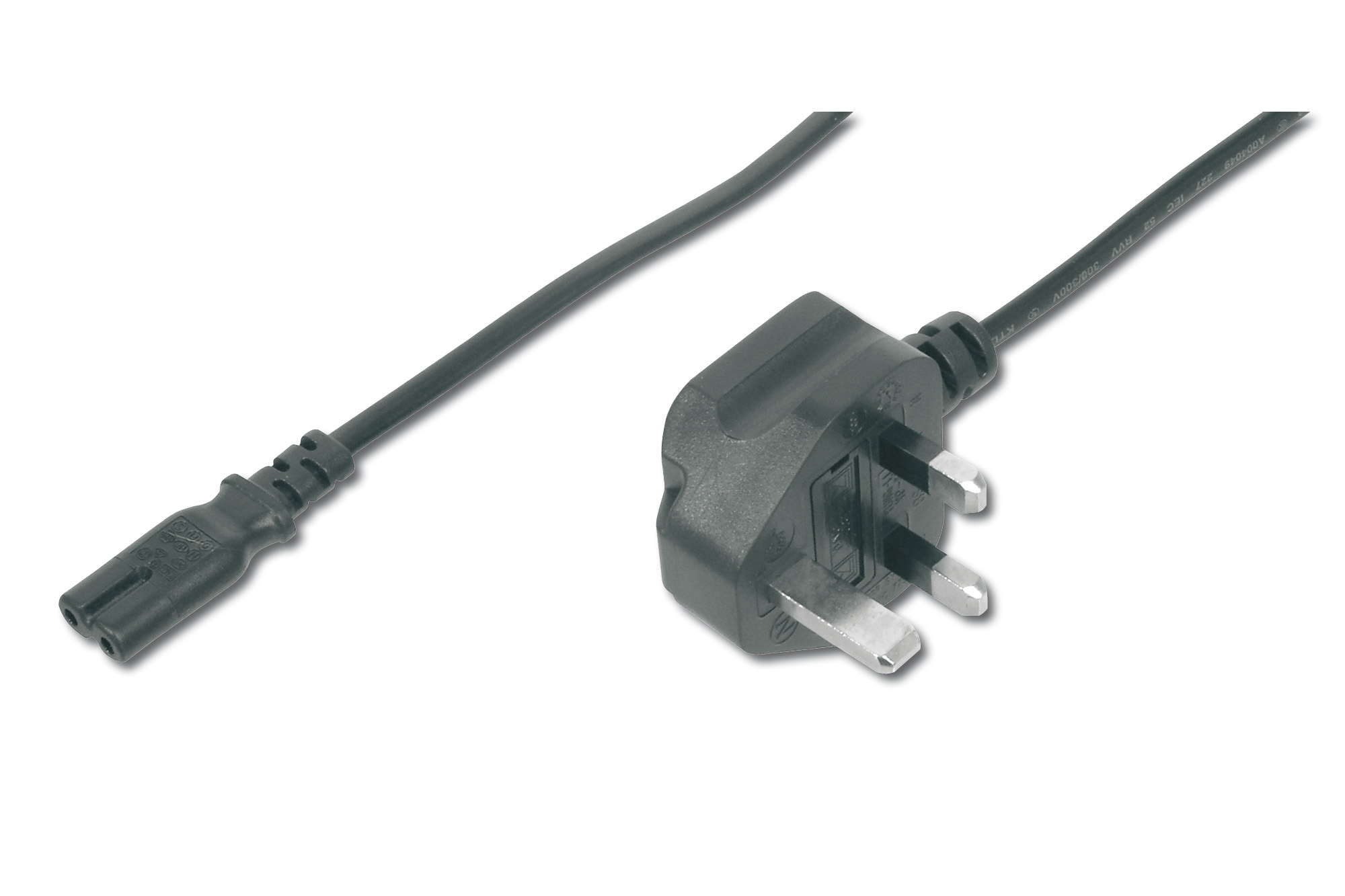 Assmann - Amazon                 Mains Cable Uk Plug 90 Angledc7     M/f 1.8m  H05vvh2-f2g 0.75qmm       Ak-440116-018-s