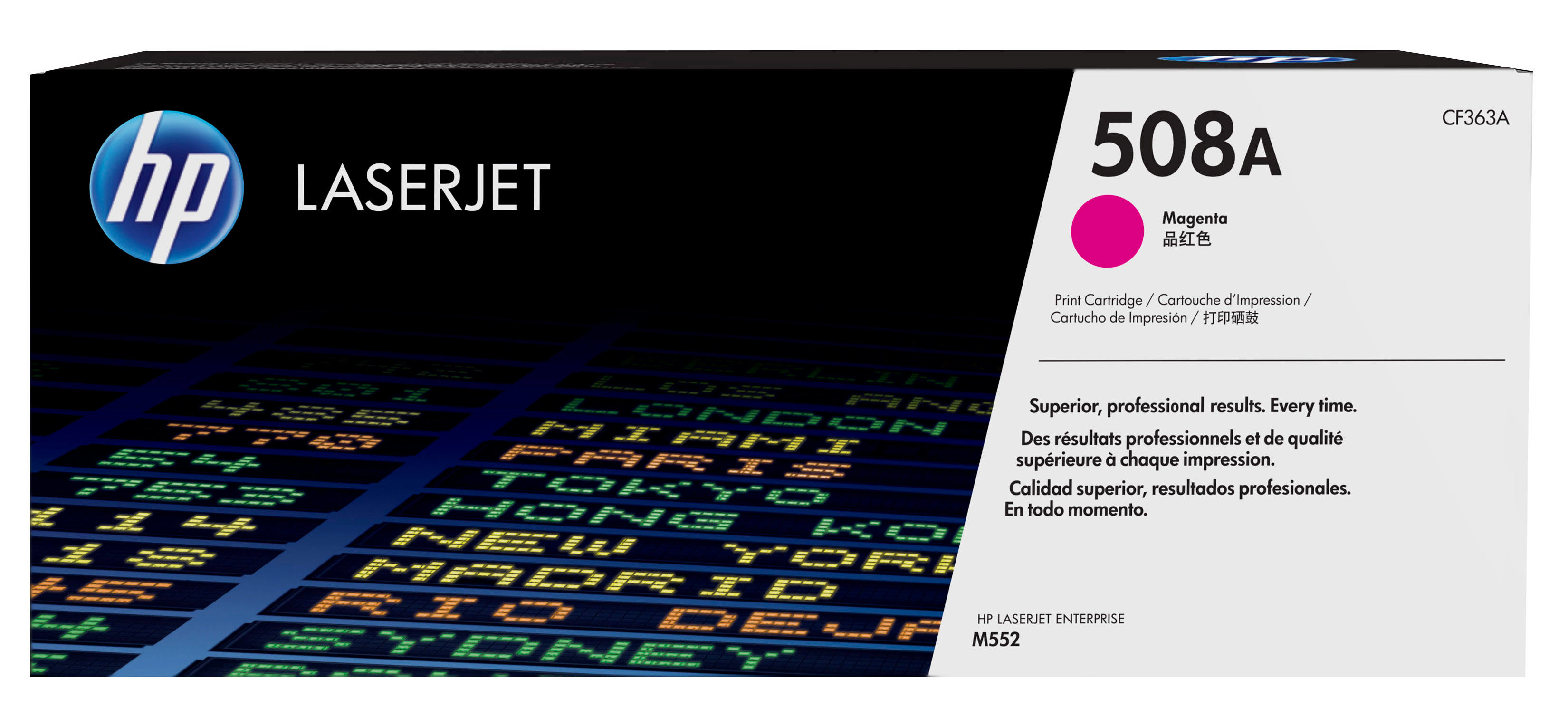 HP 508A - CF363A - 1 X Magenta - Toner Cartridge - For Color LaserJet Enterprise M552dn, M553dn, M553n, M553x CF363A - C2000