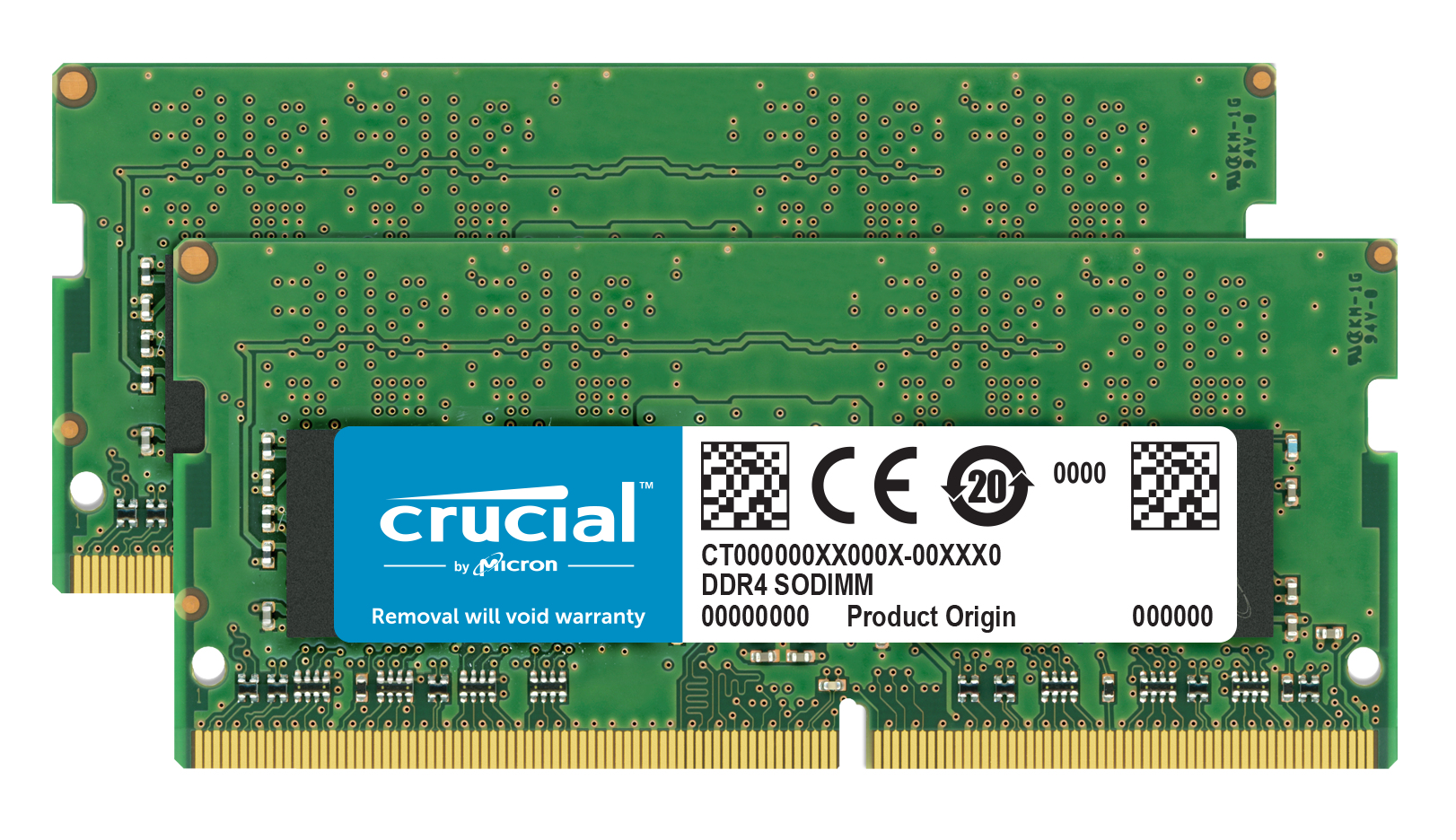 Crucial - DDR4 - 32 GB : 2 X 16 GB - SO-DIMM 260-pin - 2400 MHz / PC4-19200 - CL17 - 1.2 V - Unbuffered - Non-ECC CT2K16G4SFD824A - C2000