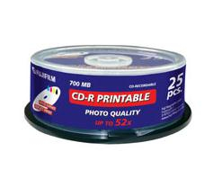 Fu47312        Fuji Cd-r Printable Spindle    25 Pack 700mb 52x                                            - UF01