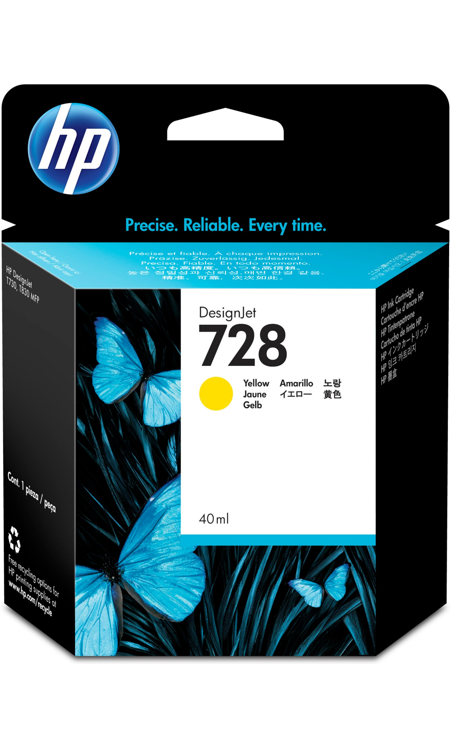 Hpf9j61a       Hp 728 40ml Yellow Ink         Hp 728 40ml Yellow Ink                                       - UF01