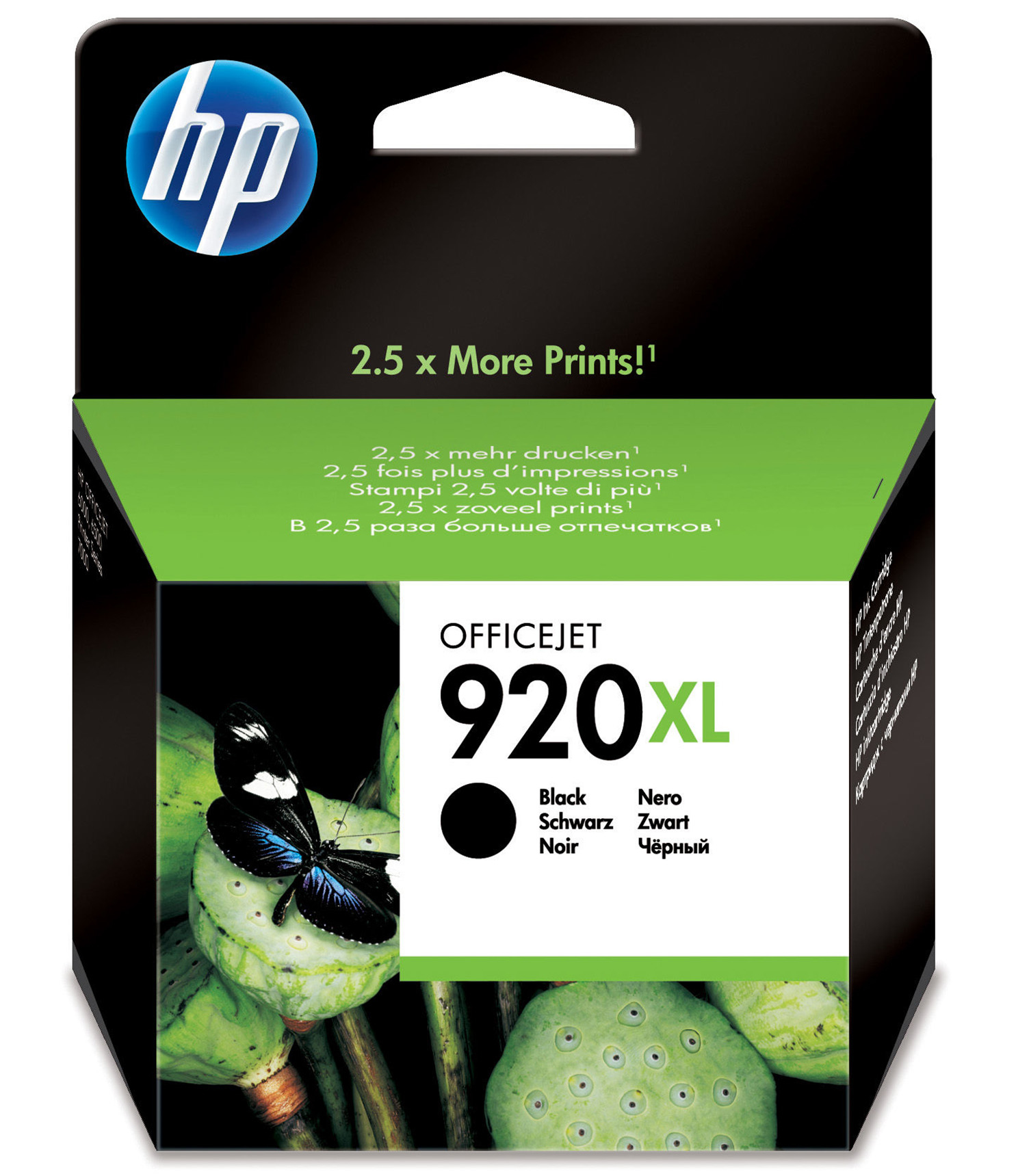 Hpcd975ae      Hp 920xl Black Inkjet          Hp 920xl Black Ink Cartridge                                 - UF01