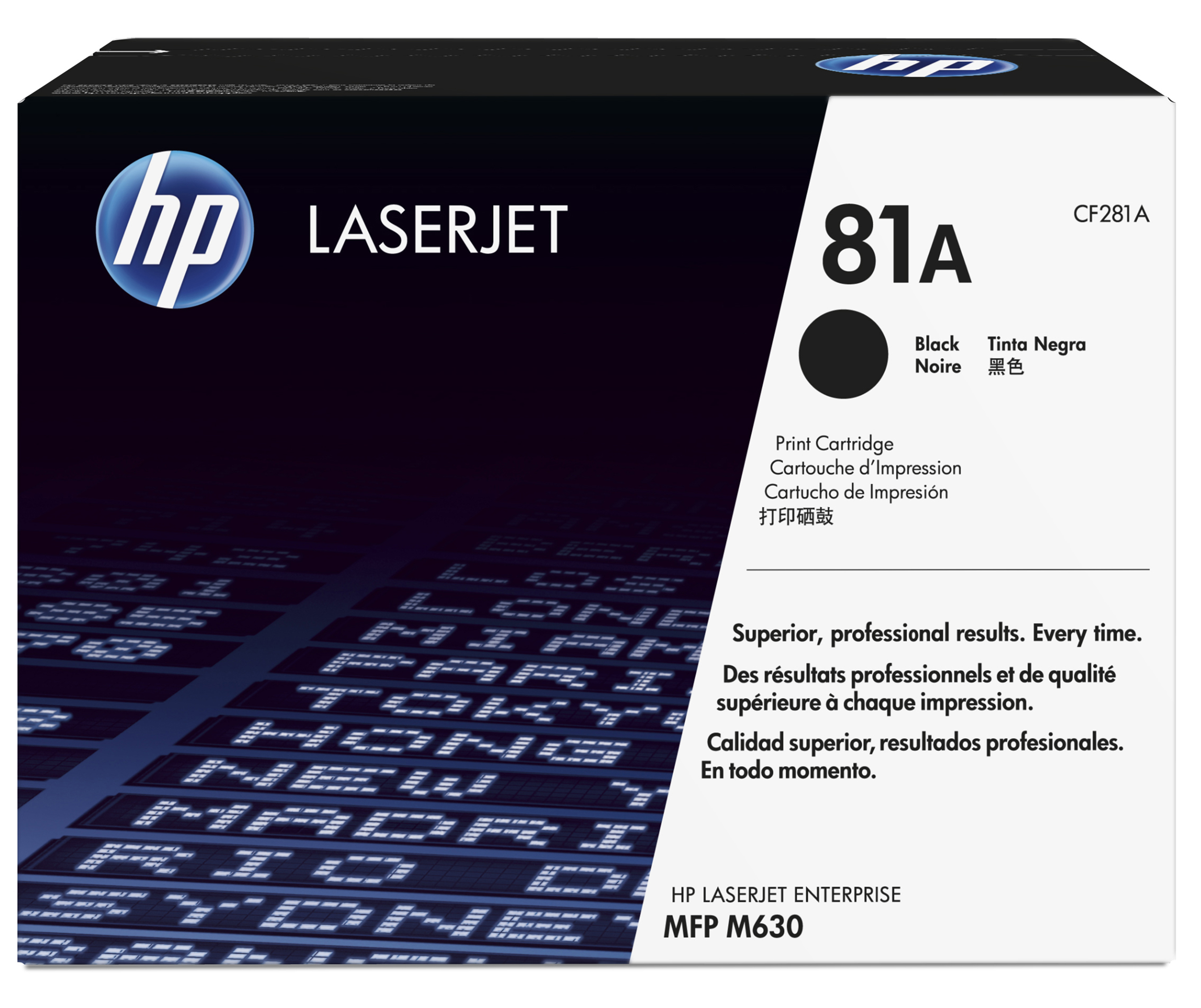 HP 81A - CF281A - 1 X Black - Toner Cartridge - For LaserJet Enterprise Flow M630, Flow MFP M630, M604, M605, M606, M630, MFP M630 CF281A - C2000