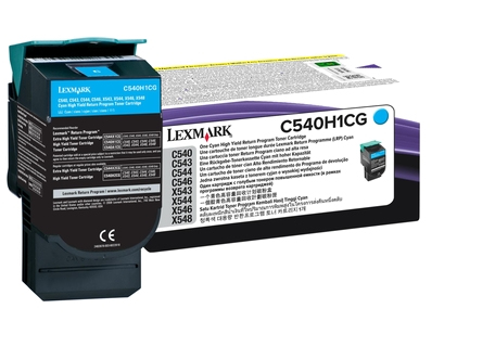 Lex0c540h1cg   Lexmark C54x Cyan Toner        Return Cartridge                                             - UF01
