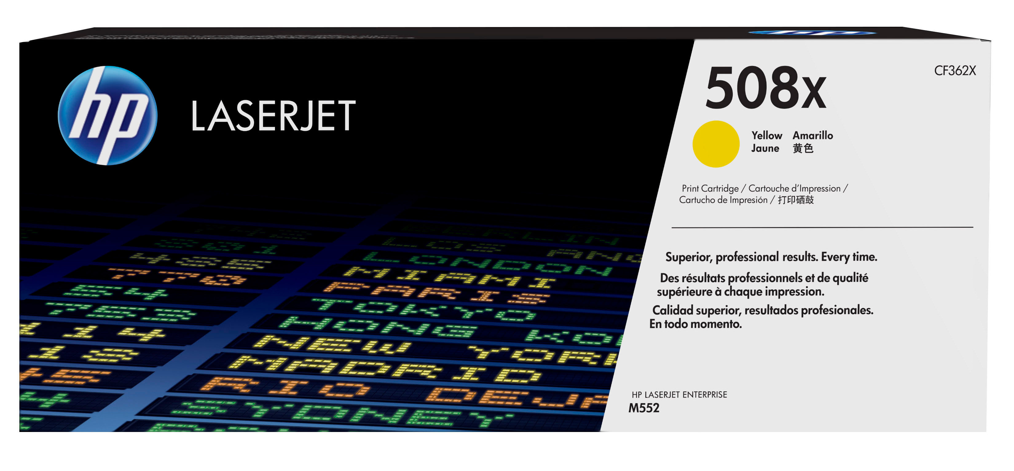 HP 508X - CF362X - 1 X Yellow - Toner Cartridge - High Yield - For Color LaserJet Enterprise M552dn, M553dn, M553n, M553x CF362X - C2000