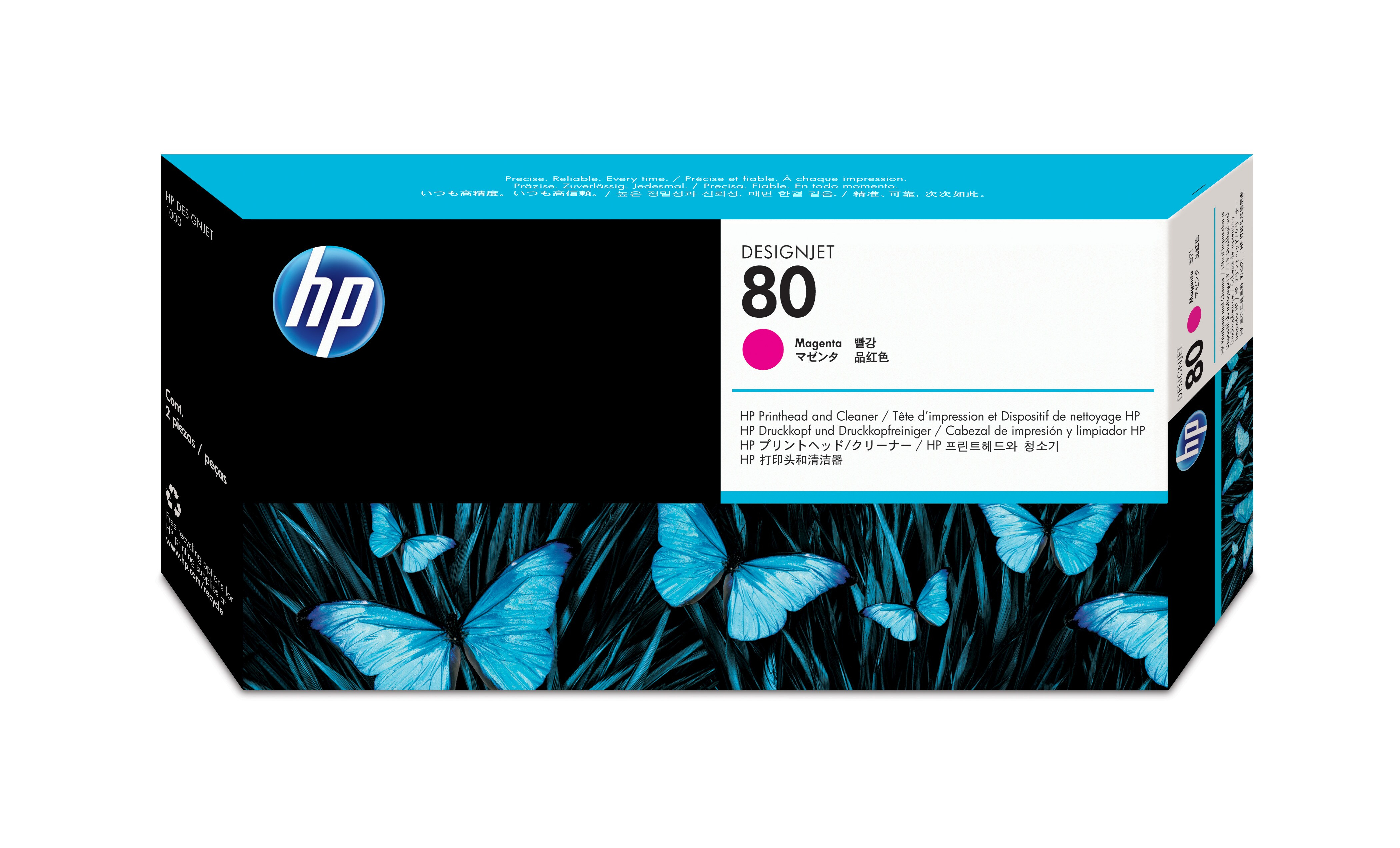 HP No. 80 Ink Printhead And Cleaner - Magenta C4822a