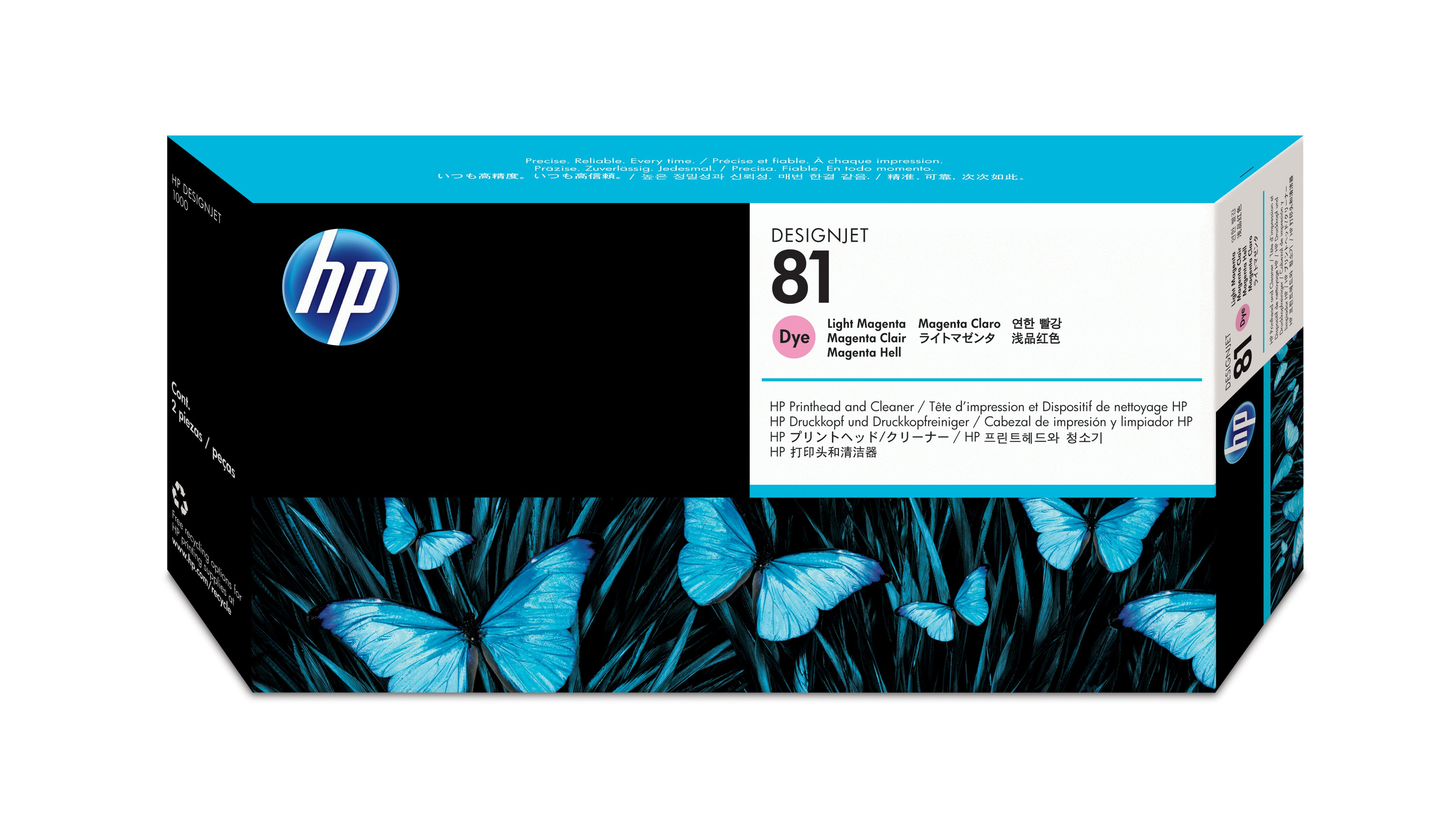 HP No. 81 Dye Ink Printhead And Cleaner-Light Magenta C4955a