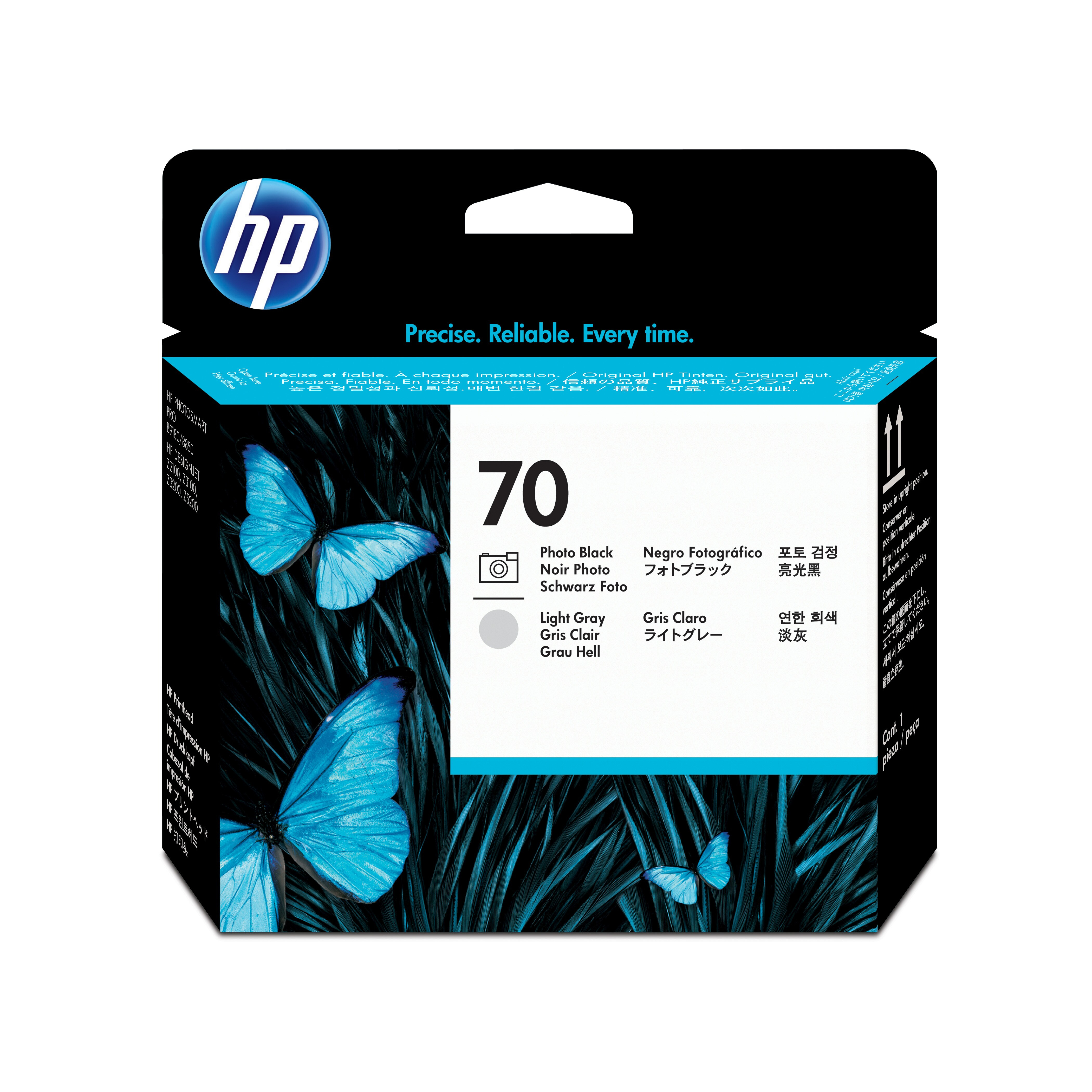 HP No. 70 Ink Printhead - Photo Black & Light Grey C9407a