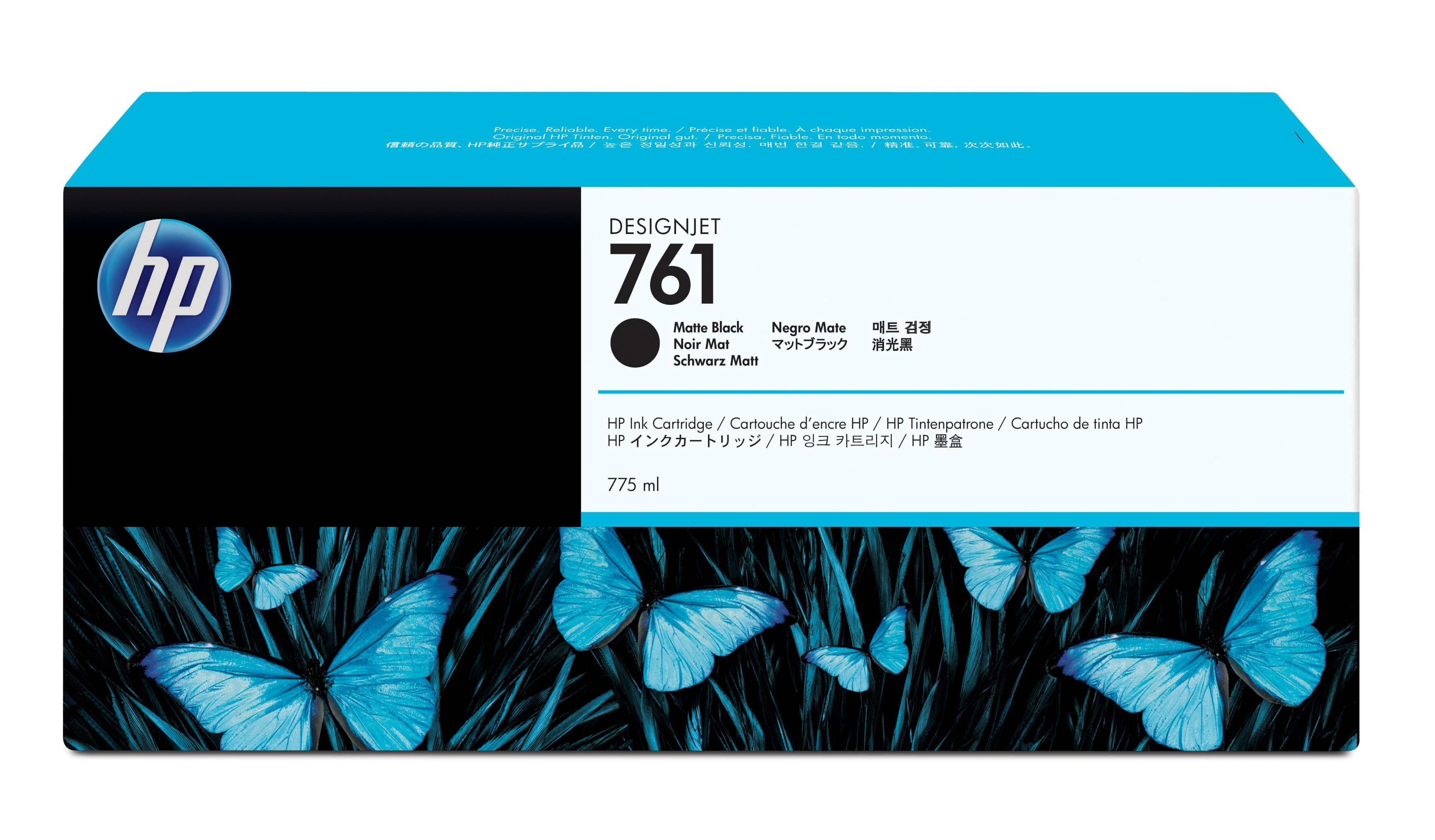 HP No. 761 Ink Cartridge - Matte Black - 775ml Cm997a