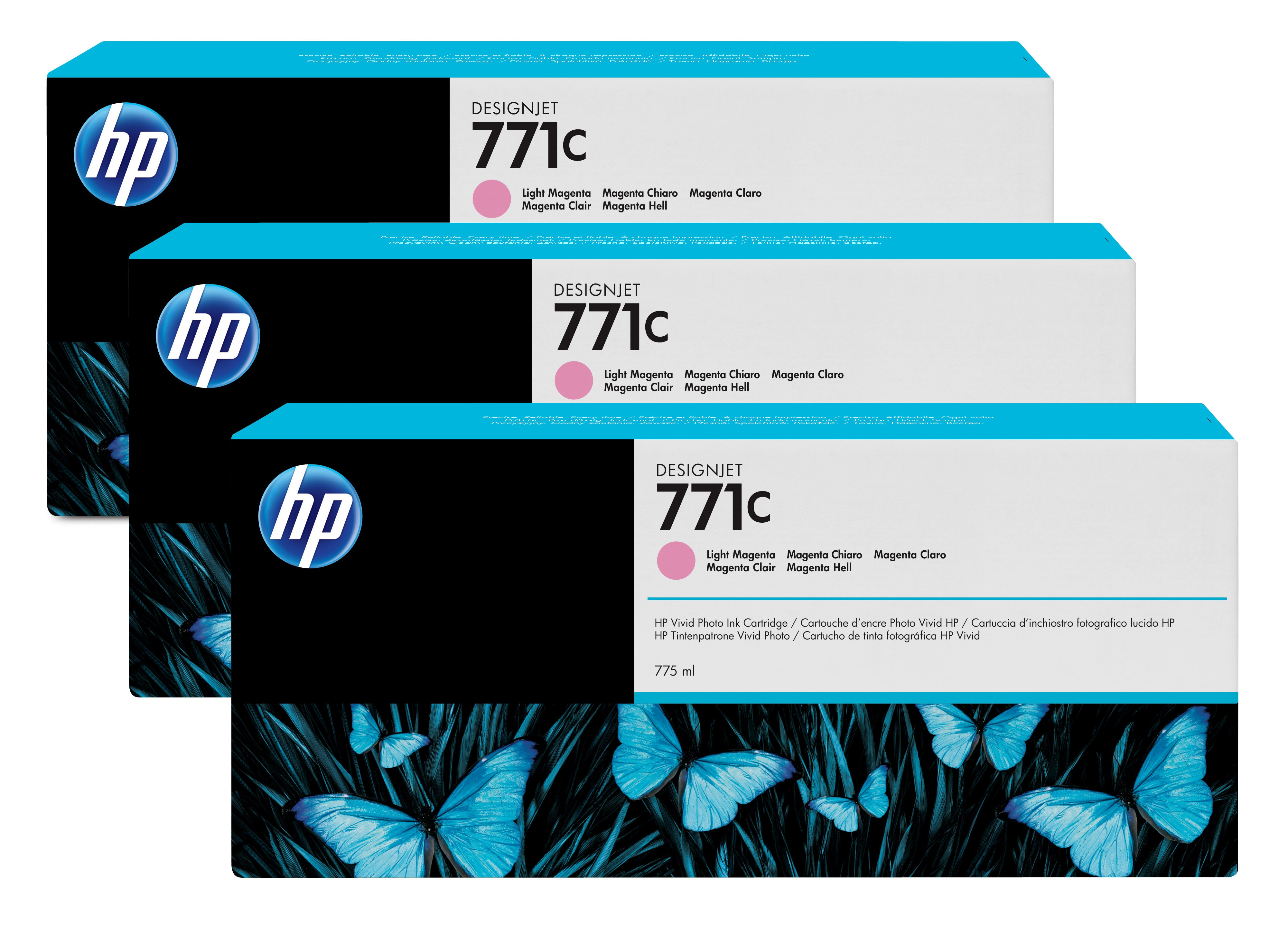 HP No. 771C 3 Ink Multipack - Light Magenta B6y35a