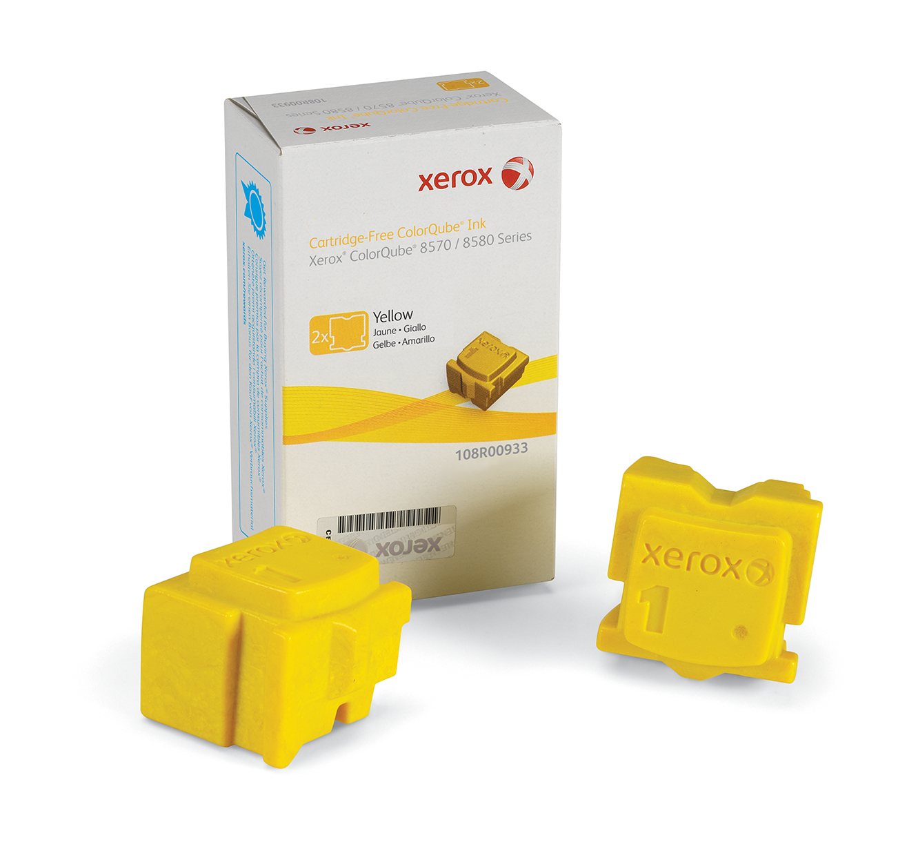 Xer108r00933   Xerox Colorqube 8570 Yellow    2 Sticks,4400 Pages                                          - UF01