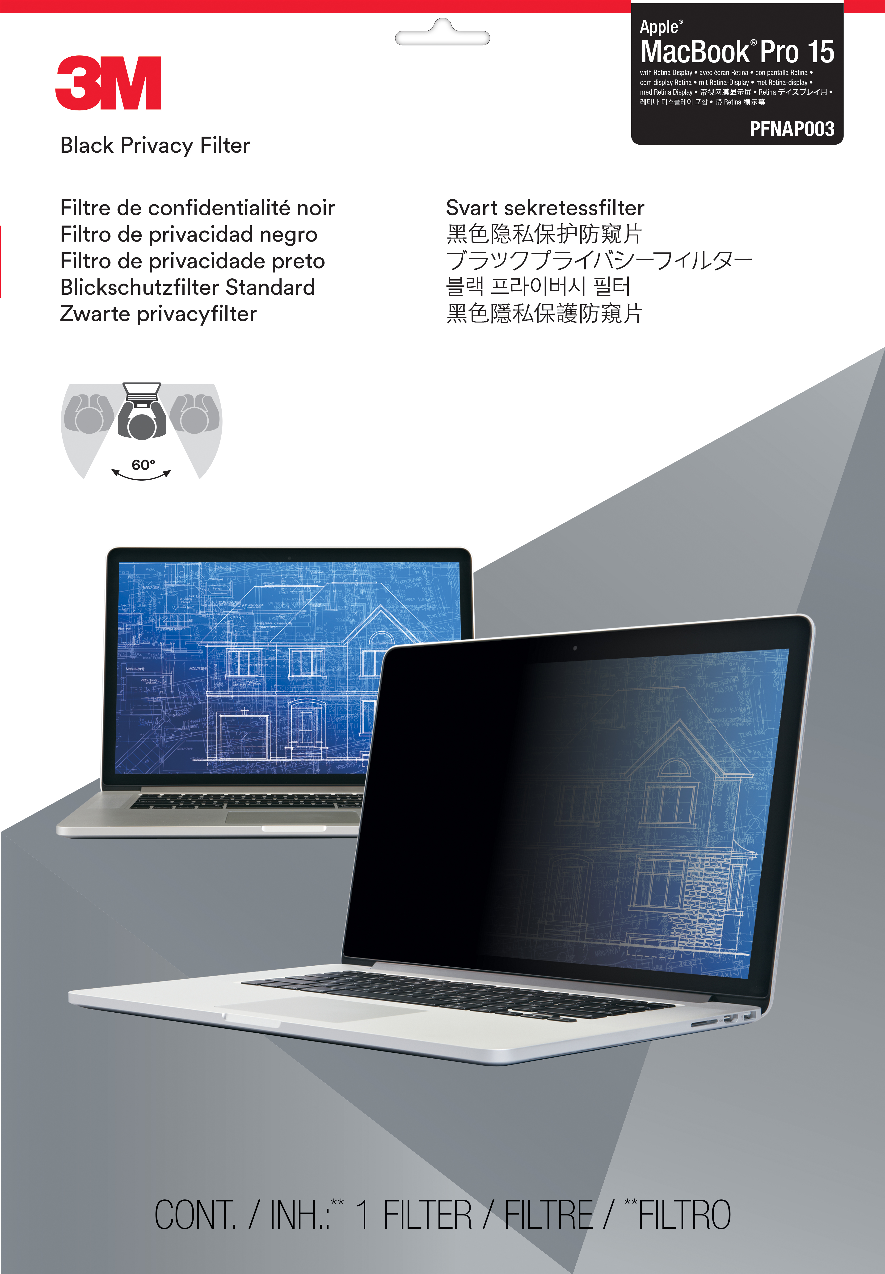 Pfnap003 3m Macbook Pro Retina Display - NA01