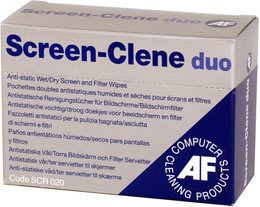 af Af Screen-clene Wet/dry Wipes Pk20 Duo Scr020 - AD01