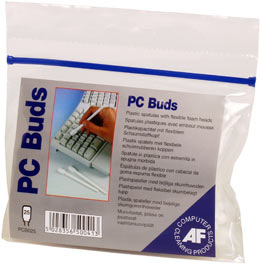 Afpcb025       Af Pc Cleaning Buds 25 Pack    Foam Tipped Spatulas                                         - UF01