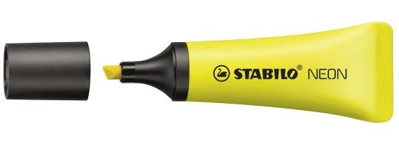 stabilo Stabilo Neon Highlighters Yellow (pk10) 72/24 - AD01