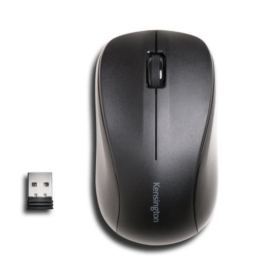 Kensington Mouse For Life - Mouse - Optical - 3 Buttons - Wireless - 2.4 GHz - USB Wireless Receiver - Black K72392EU - C2000