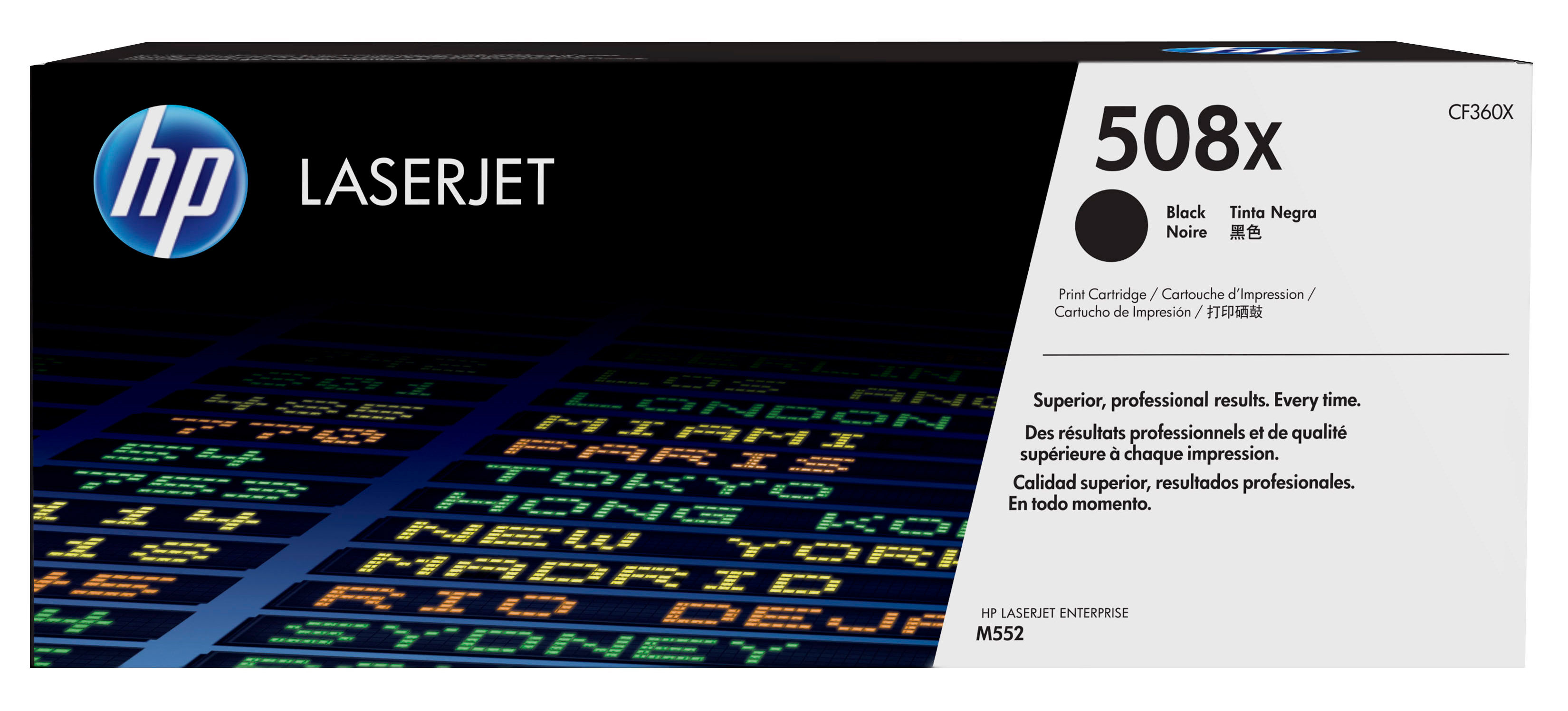 Hp - Laserjet Supply (5t)        Toner Cartridge 508x Black          .                                   Cf360x