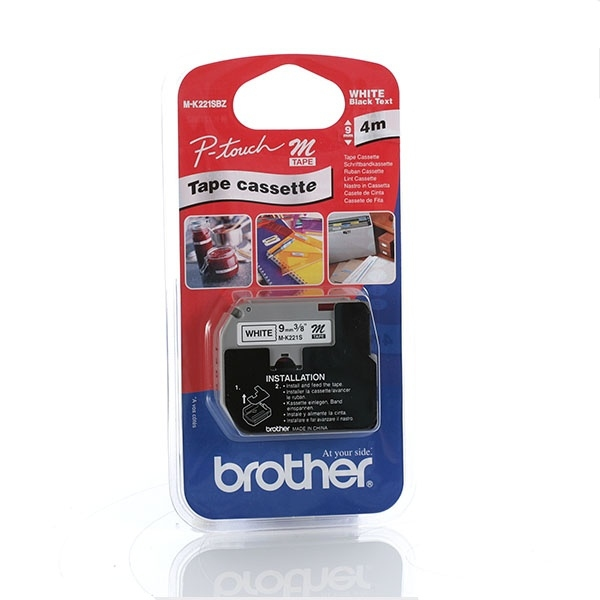 brother Black On White Labelling Tape 4mm Mk221sbz - AD01