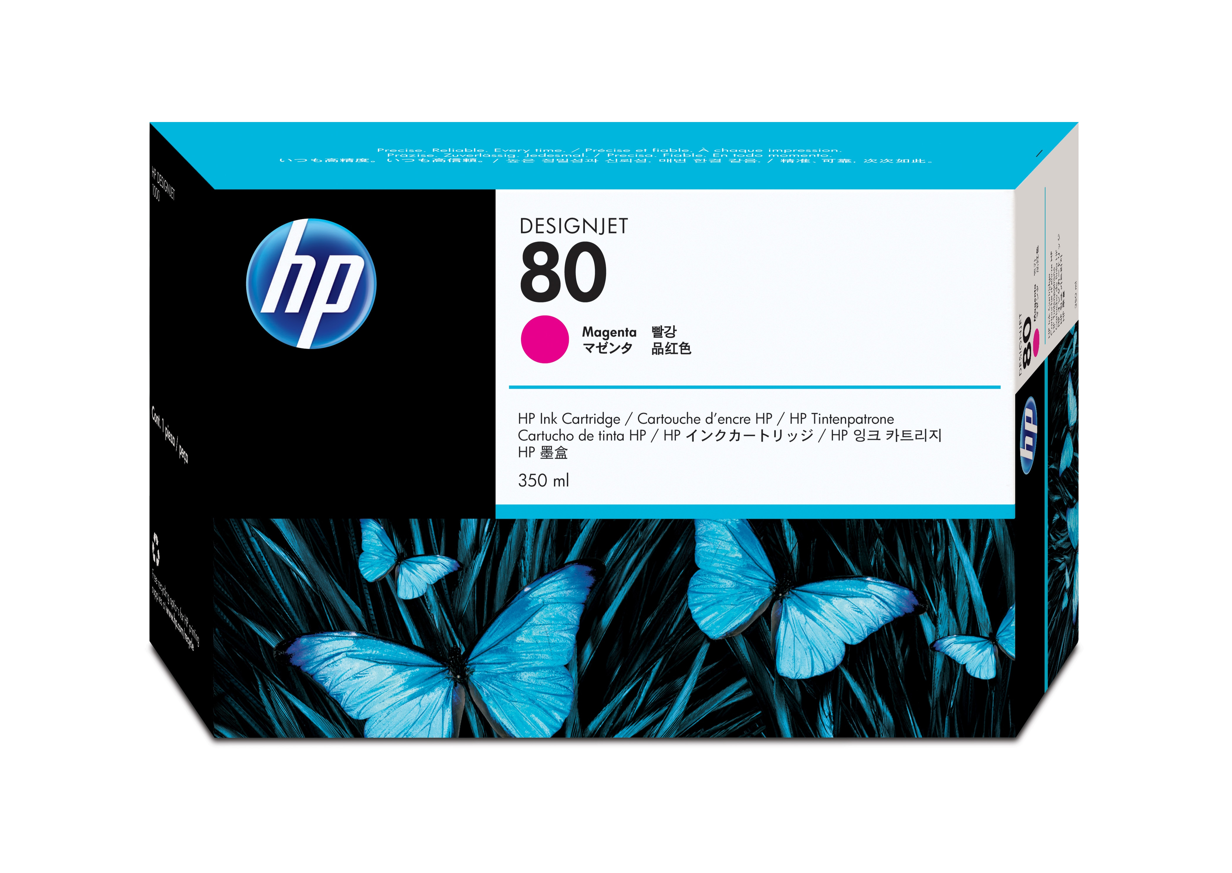 Hpc4847a       Hp 80 Magenta                  Hp No.80 Magenta Ink Cart (350for Designjet 1050c/1055cm     - UF01