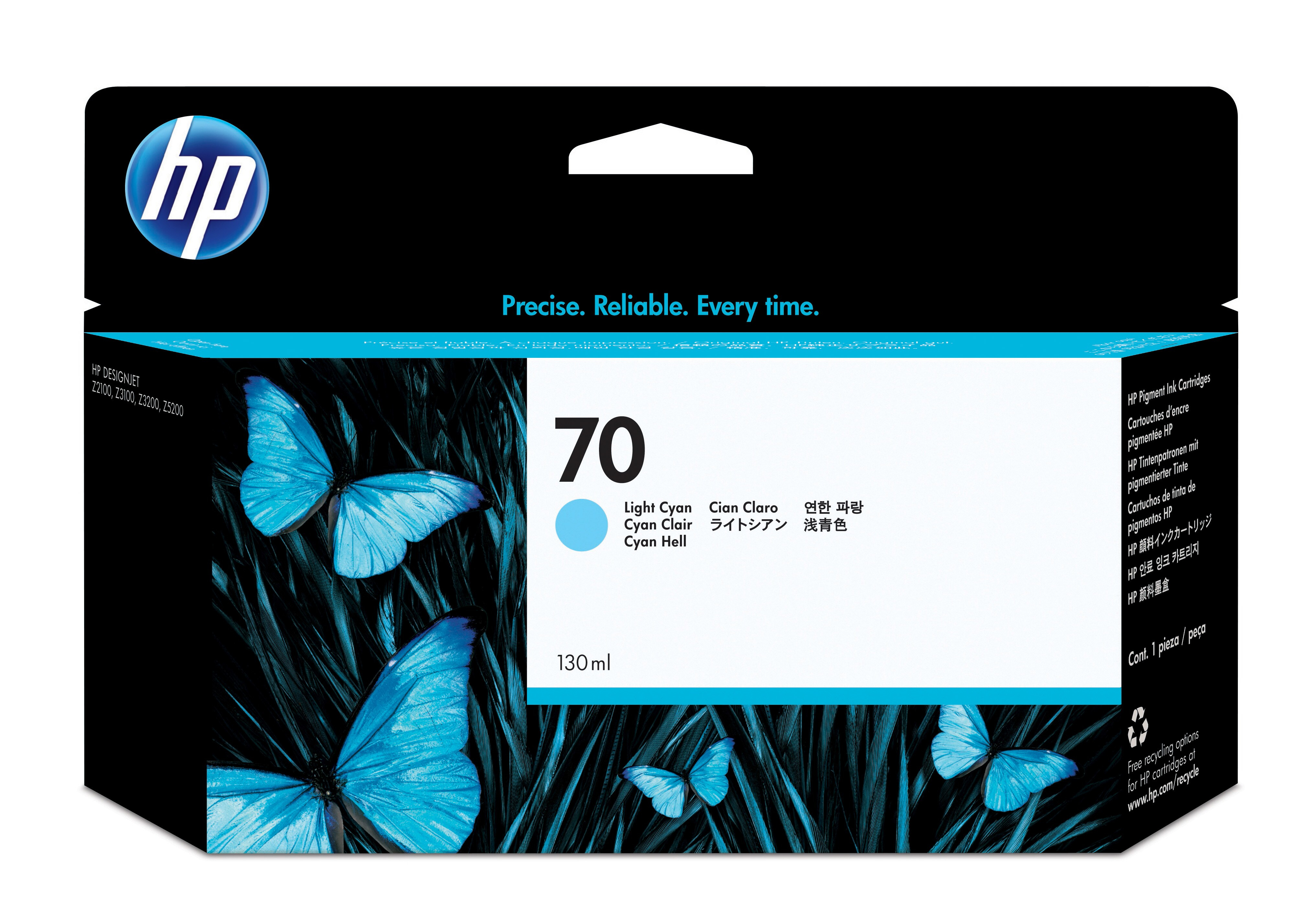 Hpc9390a       Hp 70 Light Cyan Inkjet        Hp No.70                                                     - UF01