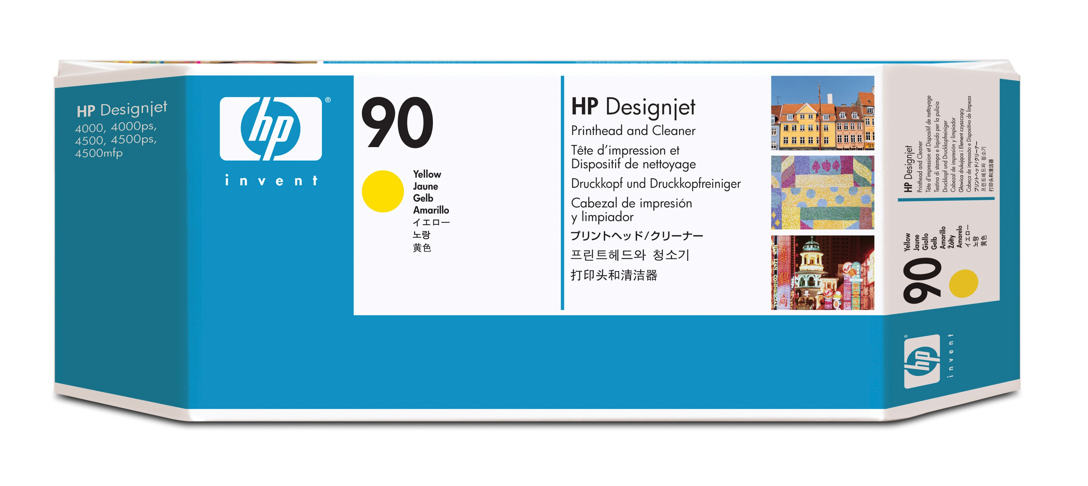 HP No. 90 Ink Printhead And Cleaner - Yellow C5057a