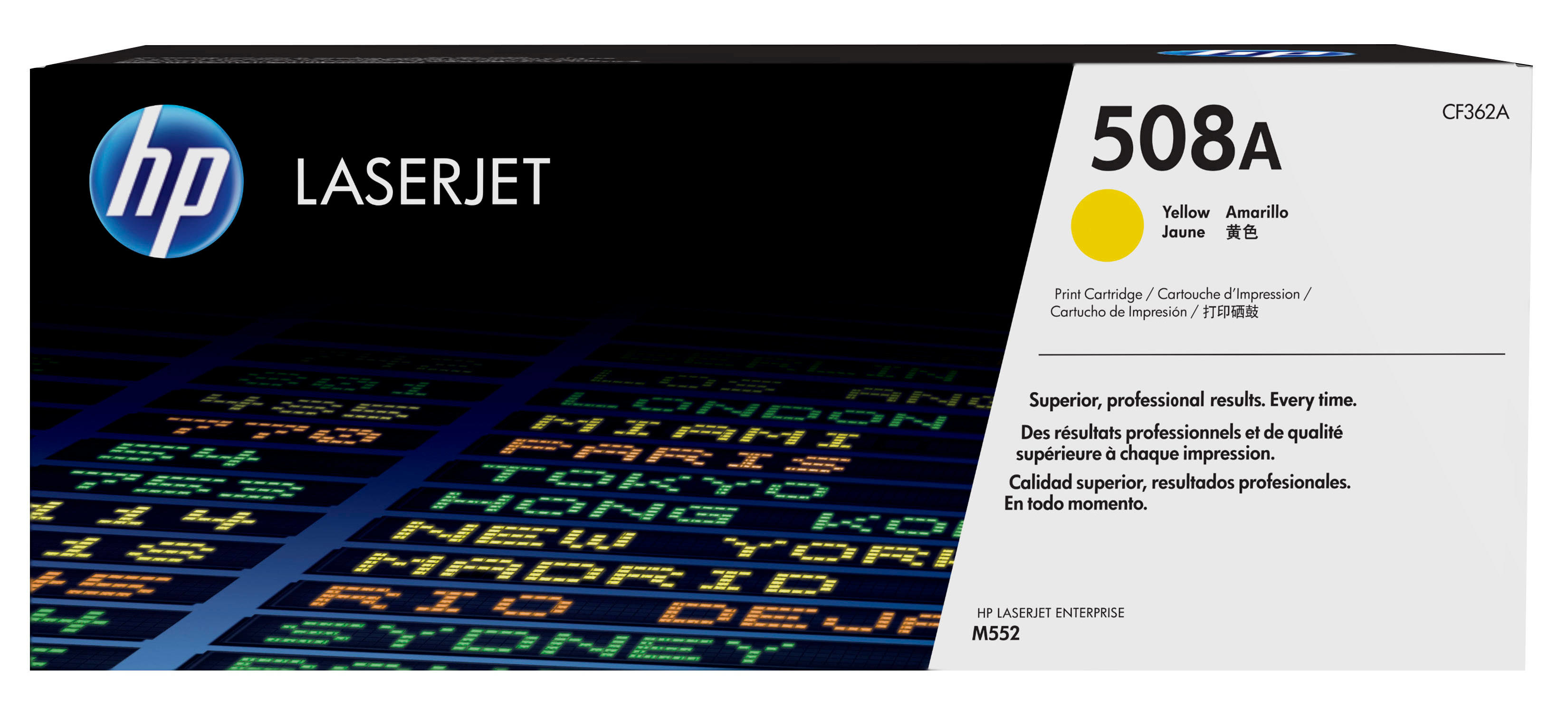 HP 508A - CF362A - 1 X Yellow - Toner Cartridge - For Color LaserJet Enterprise M552dn, M553dn, M553n, M553x CF362A - C2000