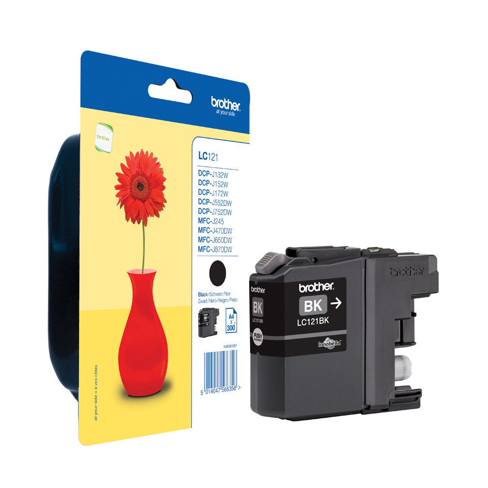 Brolc121bk     Brother Lc121 Black            Ink Cartridge                                                - UF01