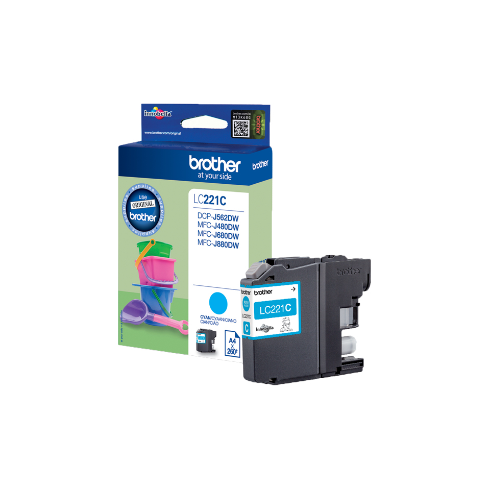 Brolc221c      Brother Lc221c Cyan Ink        Dcpj562dw                                                    - UF01