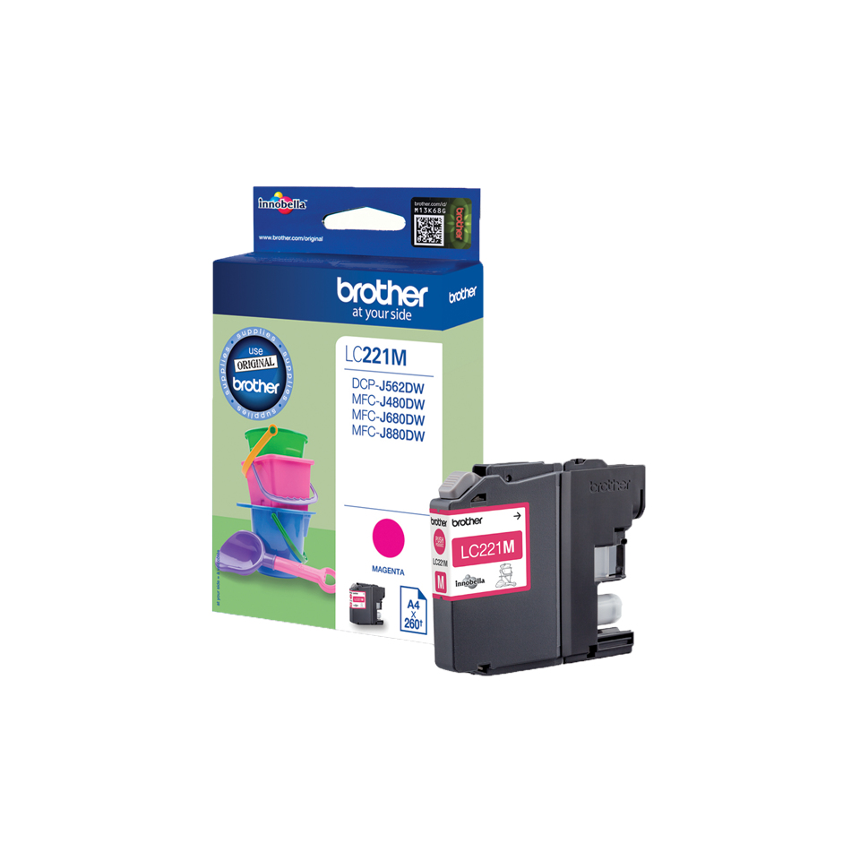 Brolc221m      Brother Lc221m Magenta Ink     Dcpj562dw                                                    - UF01