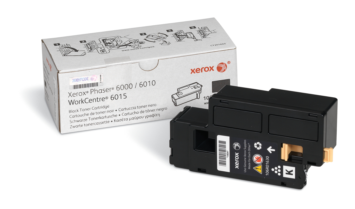 Xer106r01630   Xerox 6000/6010 Black Toner    Standard Capacity 2000pages                                  - UF01