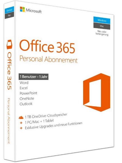 Qq2-00543 Office 365 Personal Sub 1yr Medialess P2 - Ent01