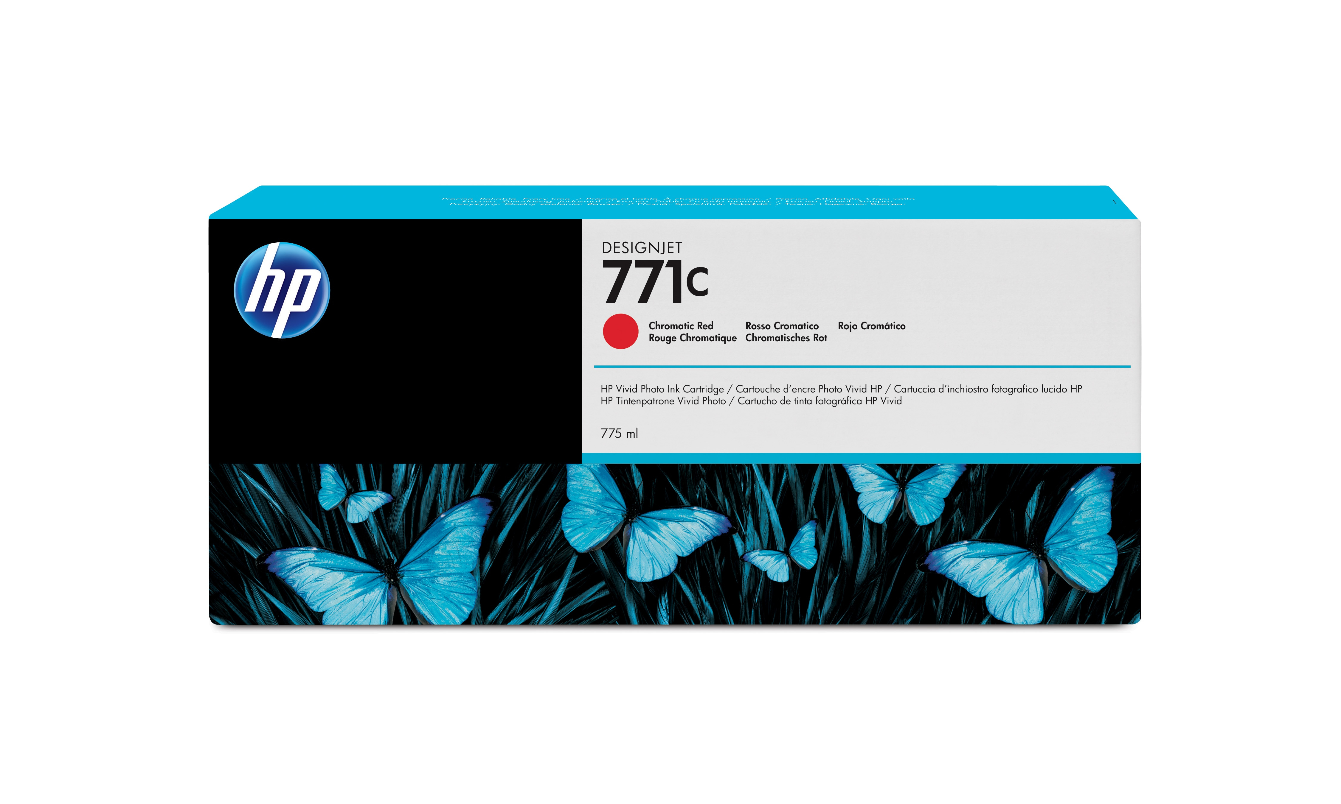 HP No. 771C Ink Cartridge - Chromatic Red - 775ml B6y08a