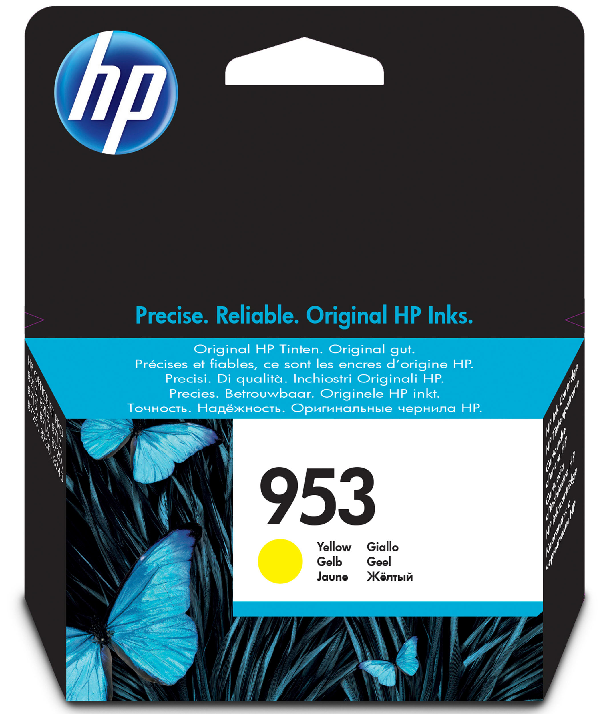 HP 953 - 10 Ml - Yellow - Original - Ink Cartridge - For Officejet Pro 8210, 8710, 8715, 8718, 8719, 8720, 8725, 8730, 8740, 8745 F6U14AE#BGX - C2000