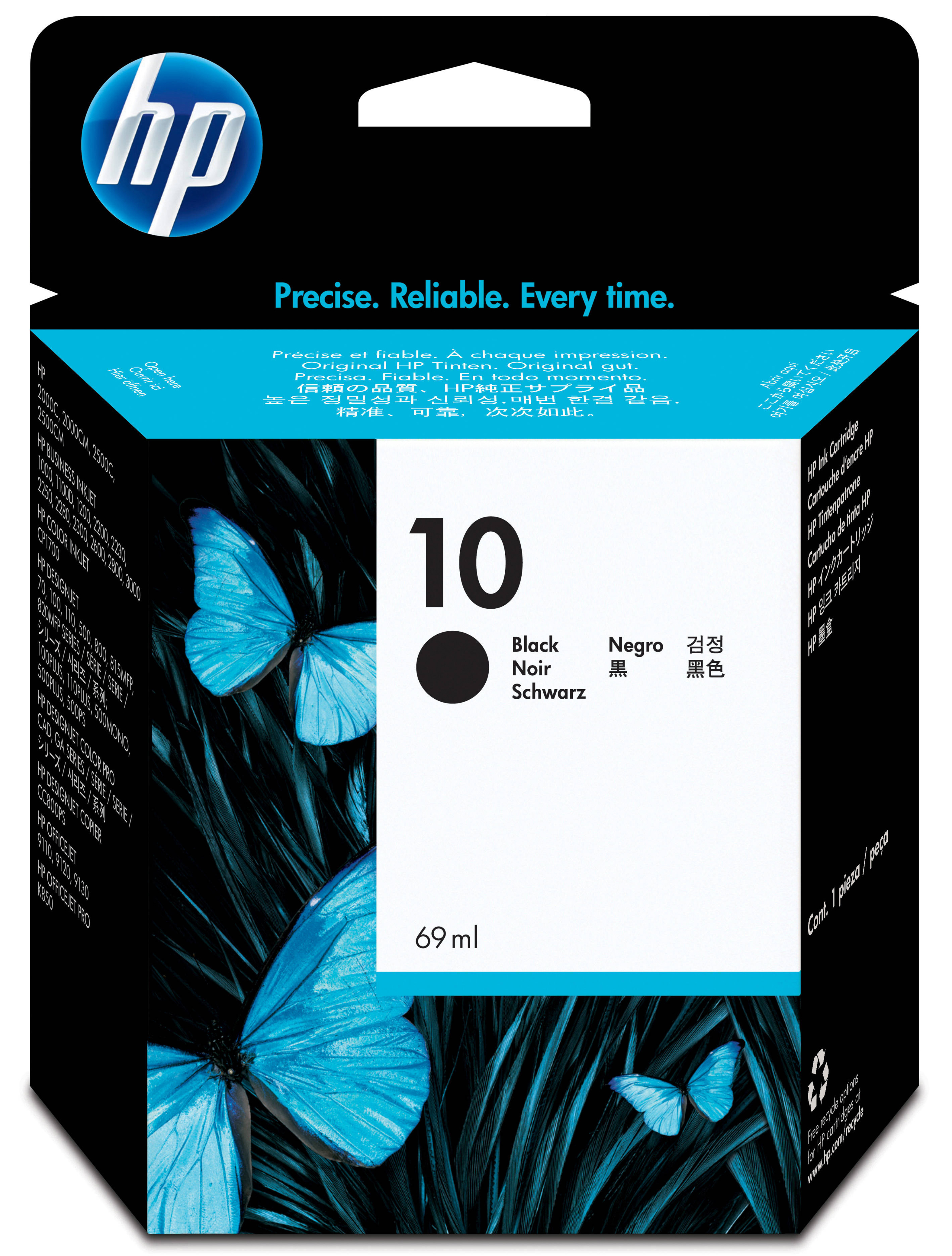 Hpc4844a       Hp 10 Black Inkjet             Hp N0 10 Large Black Ink Cart                                - UF01