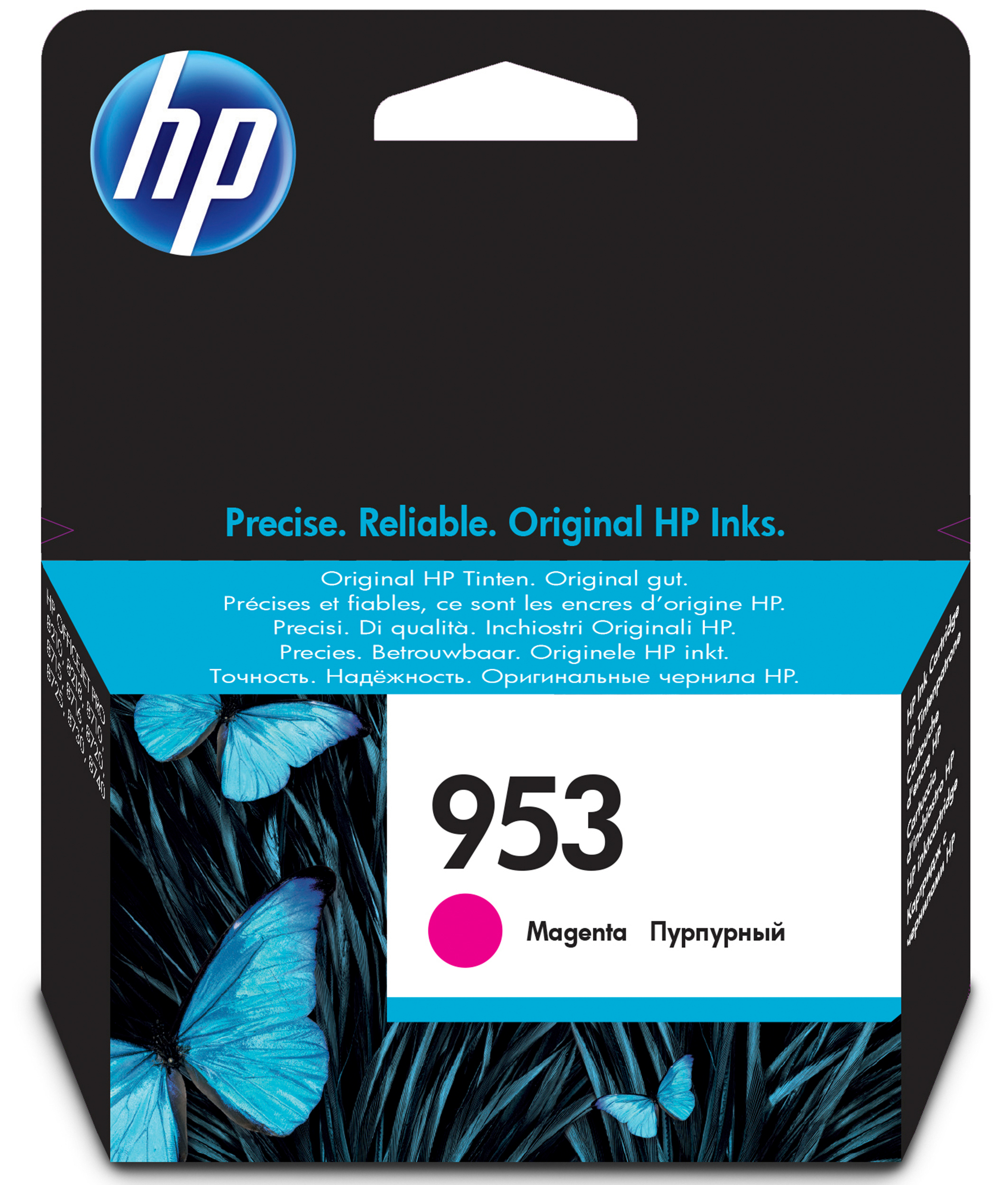HP 953 - 10 Ml - Magenta - Original - Ink Cartridge - For Officejet Pro 8210, 8710, 8715, 8718, 8719, 8720, 8725, 8730, 8740, 8745 F6U13AE#BGX - C2000
