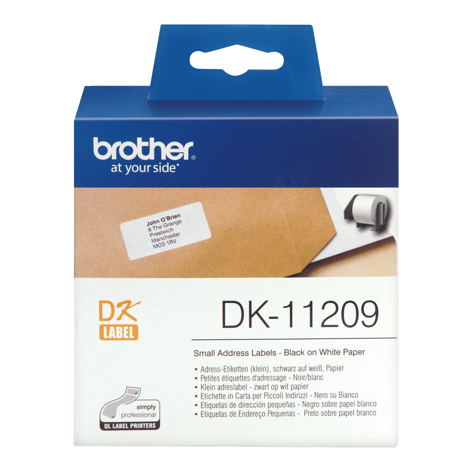Brodk11209     Brother Dk11209 Small Address  62(w)x29(l)mm  800 Labels                                    - UF01