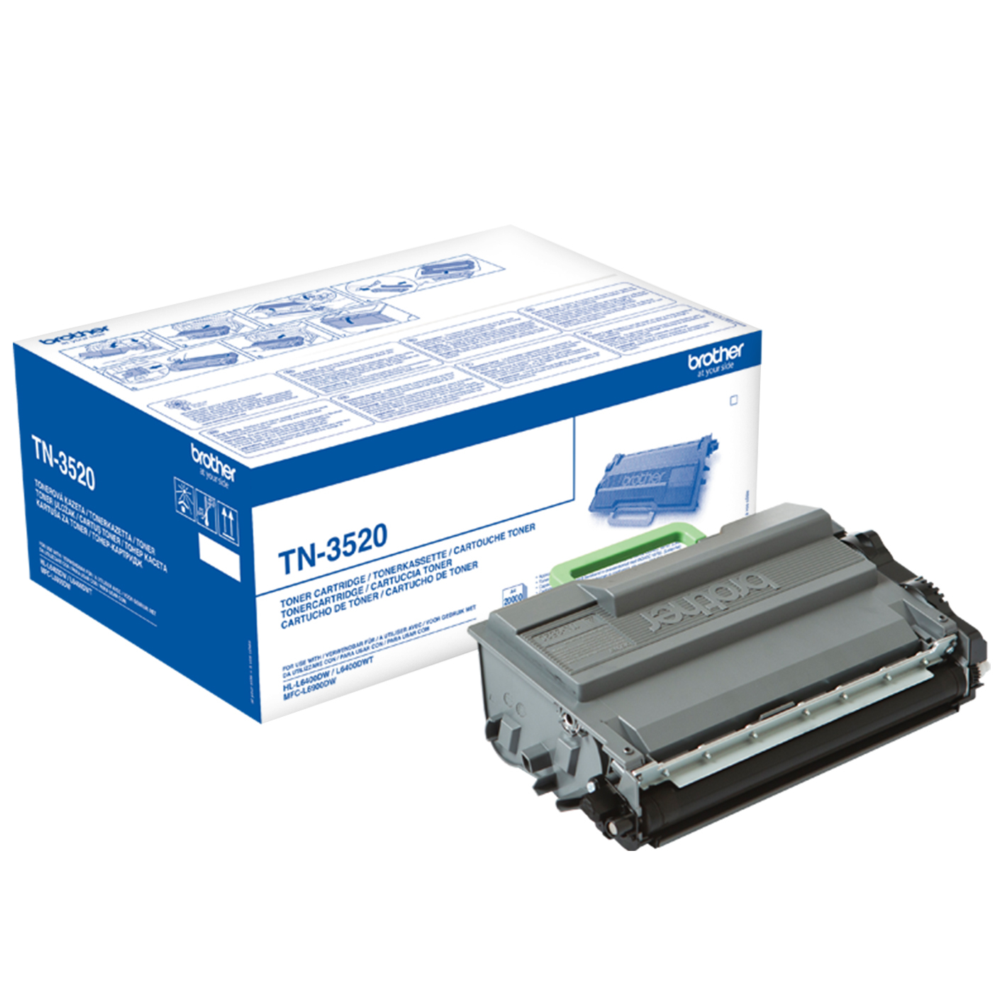 Compat Brother TN-3520 Toner Cart Blk 20k TN3520 - rem01