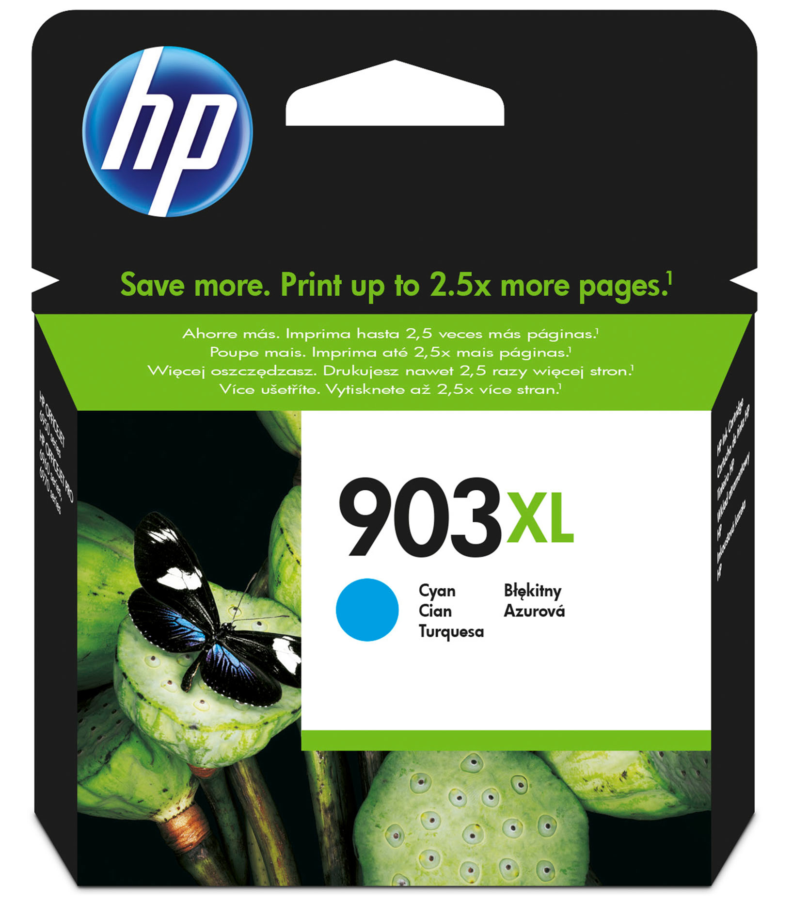 Hpt6m03ae      Hp 903xl Cyan Ink Cartridge    High Yield                                                   - UF01