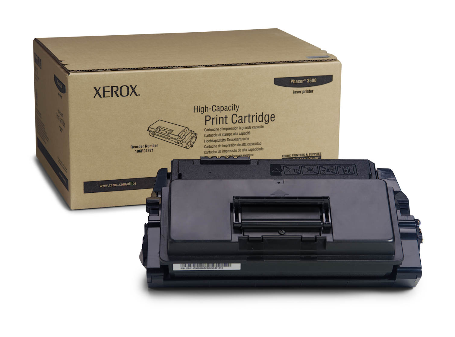 Xer106r01371   Xerox Phaser 3600 High Cap     Xerox Phaser 3600 High Cap Print Cartridge                   - UF01