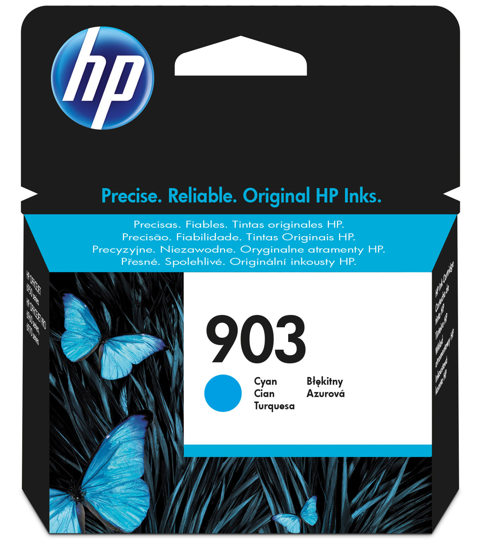 HP 903 - Cyan - Original - Ink Cartridge - For Officejet Pro 6960, 6970 T6L87AE#BGX - C2000