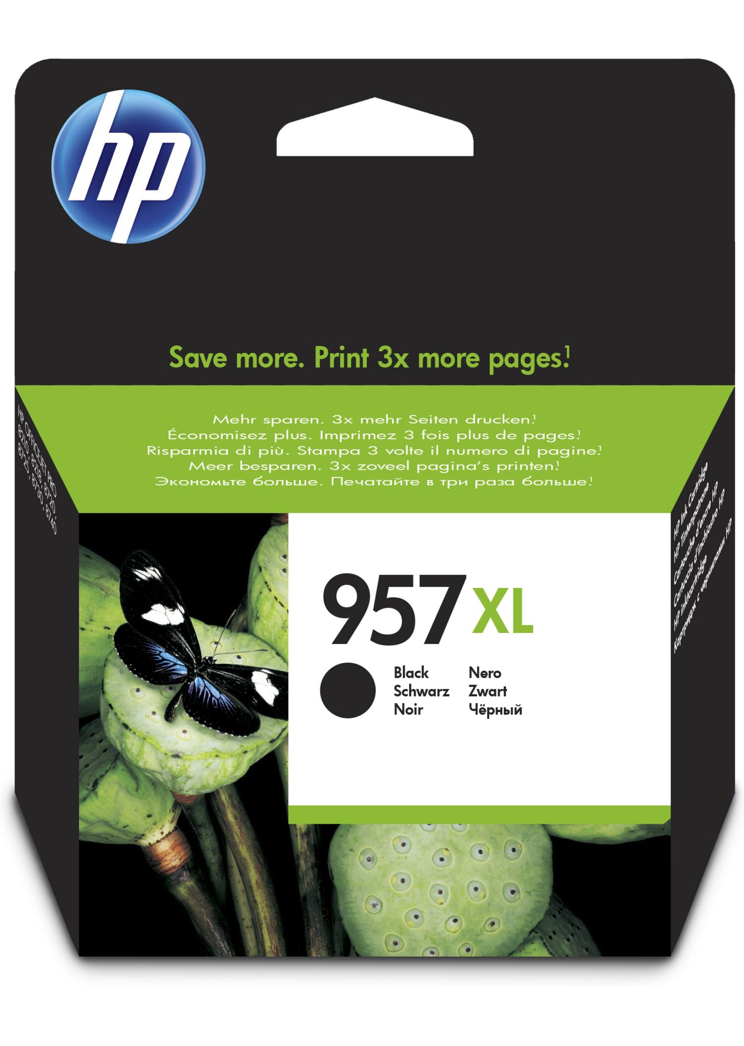 Hp - Inkjet Supply (pl1n) Mvs    Ink Cartridge No 957xl Black        De/fr/nl/be/uk/se/it                L0r40ae#bgx