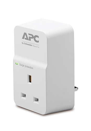 Apc - Surge And Back Ups         Essential Surgearrest 1 Outlet      230v Uk                             Pm1w-uk