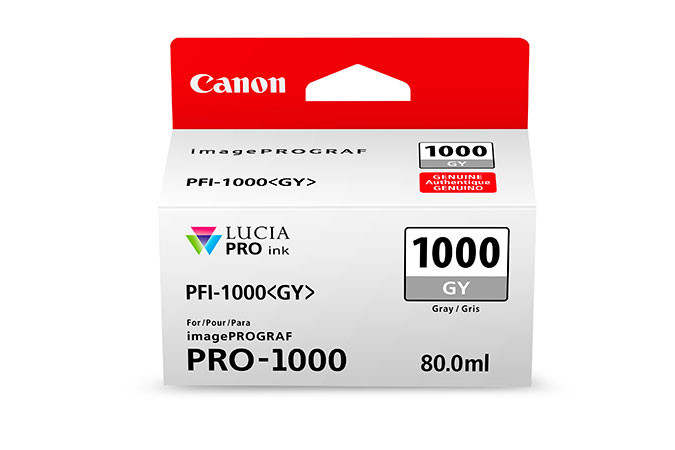 Canon Pfi1000 Grey Ink 80ml 0552c001 - AD01