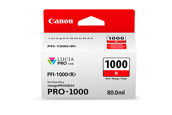 Canon Pfi1000 Red Ink 80ml 0554c001 - AD01