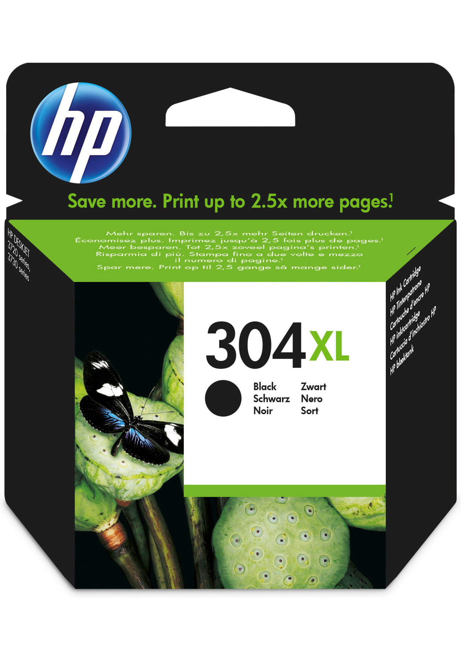 HP Hp 304xl Black Ink Cartridge N9k08ae - AD01